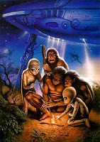 Artwork Confirms Aliens and Cavemen Interacted