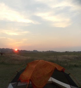 Last years campsite in the Badlands